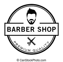 Barber shop badge haircut & shave