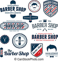 Barber shop graphics - Set of vintage barber shop graphics...