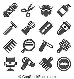 Barber Shop Icons Set