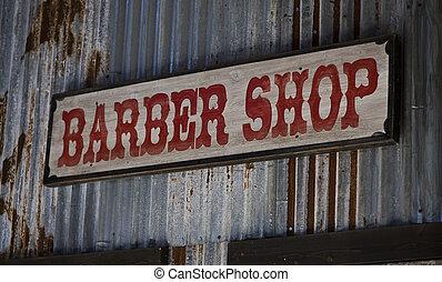 Old barber shop sign.