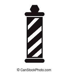 barber shop pole Icon Illustration design