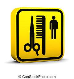 Barber Shop Sign - Barber shop sign on a white background....