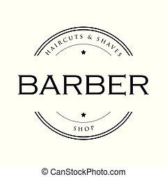 Barber vintage sign stamp