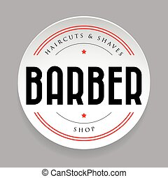 Barber vintage sign sticker