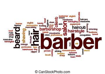 Barber word cloud