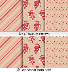barberry, a set of seamless pattern