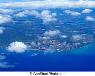 Barbers Point, and Pearl Harbor of Oahu in the state of Hawaii