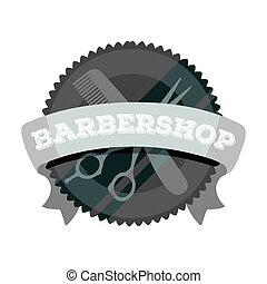 Barber's sign. Barbershop single icon in monochrome style vector symbol stock illustration web.