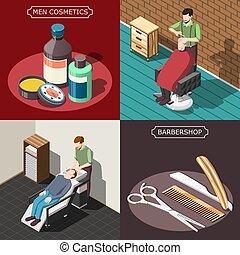 Barbershop Isometric Design Concept