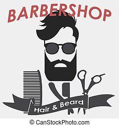 Barbershop logo. Hairdresser