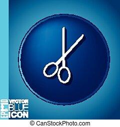 barbershop., scissors., símbolo, salão beleza, cabelo