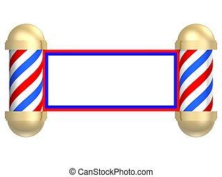 Barbershop scroll - Illustrated rendering of a barbershop ...