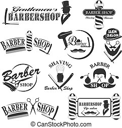 Barbershop tool collection, set of barbershop instruments