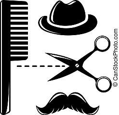 Barbershop vintage icons