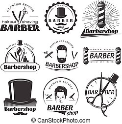 Barbershops Graphic Emblems