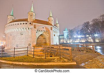 barbican, em, krakow, polônia