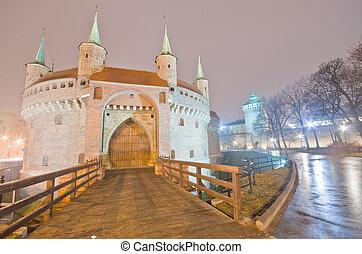 Barbican in Krakow, Poland  - Barbican in Krakow, Poland