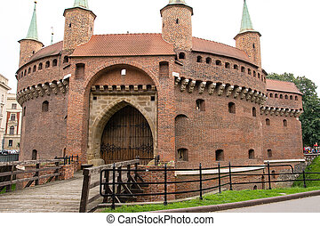 Barbican in the Krakow (Poland)