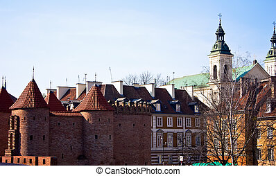 Barbican in Warsaw Poland. attractions