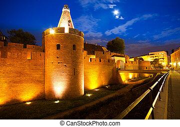 Barbican walls - Barbican fortification walls in Warsaw, ...