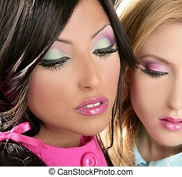 barbie, donne, bambola, stile anni 80, fahion, trucco