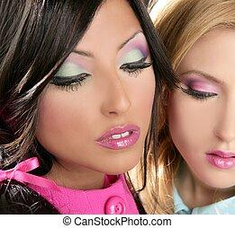 barbie, kobiety, lalka, 1980ą styl, fahion, makijaż