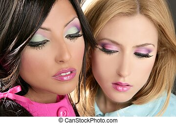 barbie, mujeres, muñeca, estilo década 80, fahion, maquillaje
