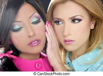 barbie, mulheres, boneca, estilo 1980s, fahion, maquilagem
