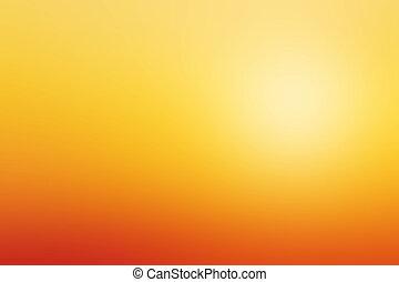 barbouillage, coucher soleil