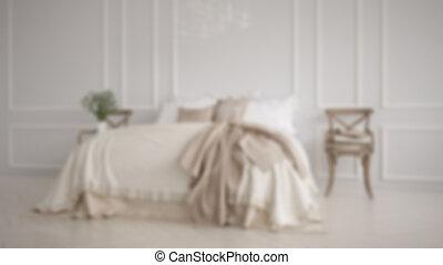 barbouillage, fond, conception intérieur, minimaliste, classique, blanc, chambre à coucher