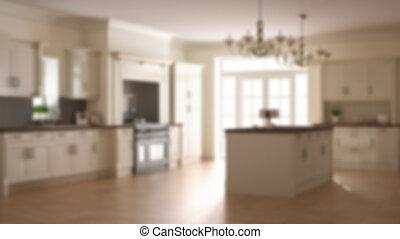 barbouillage, fond, conception intérieur, scandinave, classique, beige, cuisine