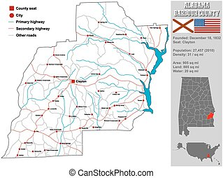 Barbour County in Alabama
