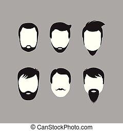 barbudo, faces homens