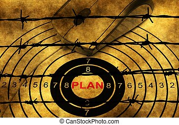 barbwire, 概念, 計画, に対して, ターゲット