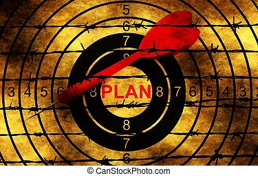 barbwire, 計画, に対して, ターゲット