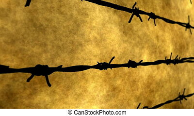 Barbwire against grunge background