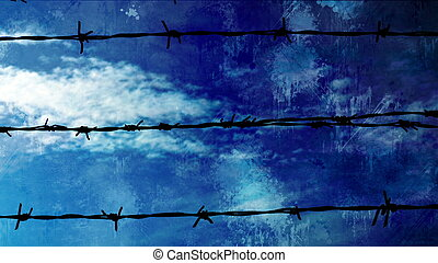Barbwire Against Time Lapse