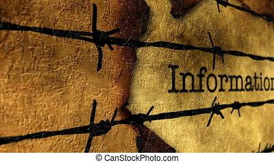 barbwire, informacja, przeciw, tekst