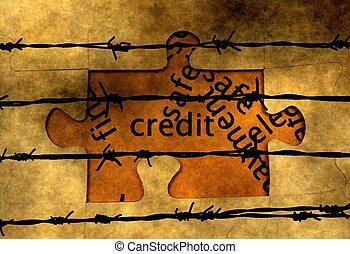 barbwire, kredyt, zagadka, pojęcie, przeciw