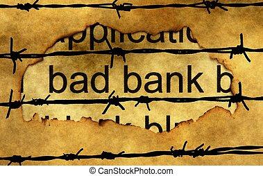 barbwire, operação bancária, mau, conceito, contra