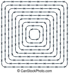 Barbwire pattern - Illustration of the abstract barbed wire...