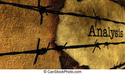 barbwire, texte, analyse, contre