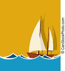 barca naviga, fondo