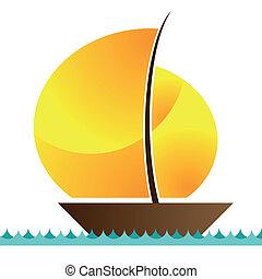 barca naviga