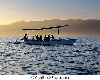 barca, persone