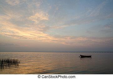 barca remi, silhouette