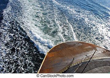 barca, scia