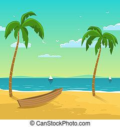 barca, spiaggia