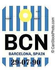 barcelona airport luggage tag - barcelona realistically...