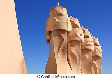 Barcelona and Gaud: La Pedrera or Casa Mila